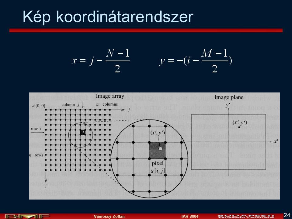 Vámossy Zoltán IAR 2004 24 Kép koordinátarendszer