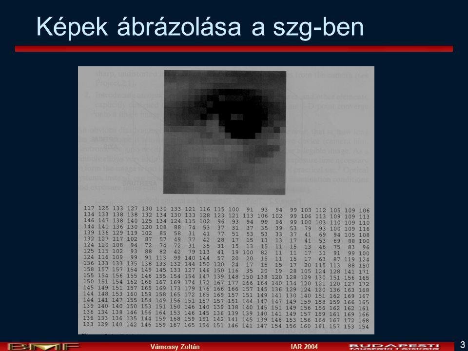 Vámossy Zoltán IAR 2004 3 Képek ábrázolása a szg-ben