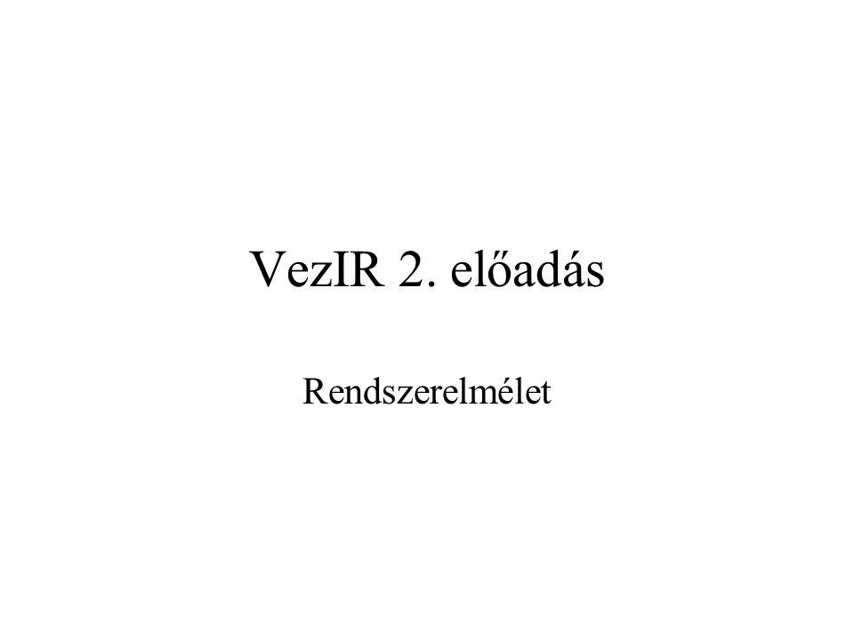 VezIR 2. előadás Rendszerelmélet