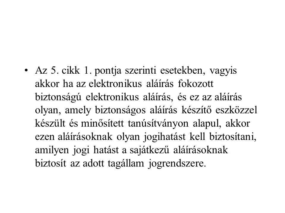Az 5. cikk 1.