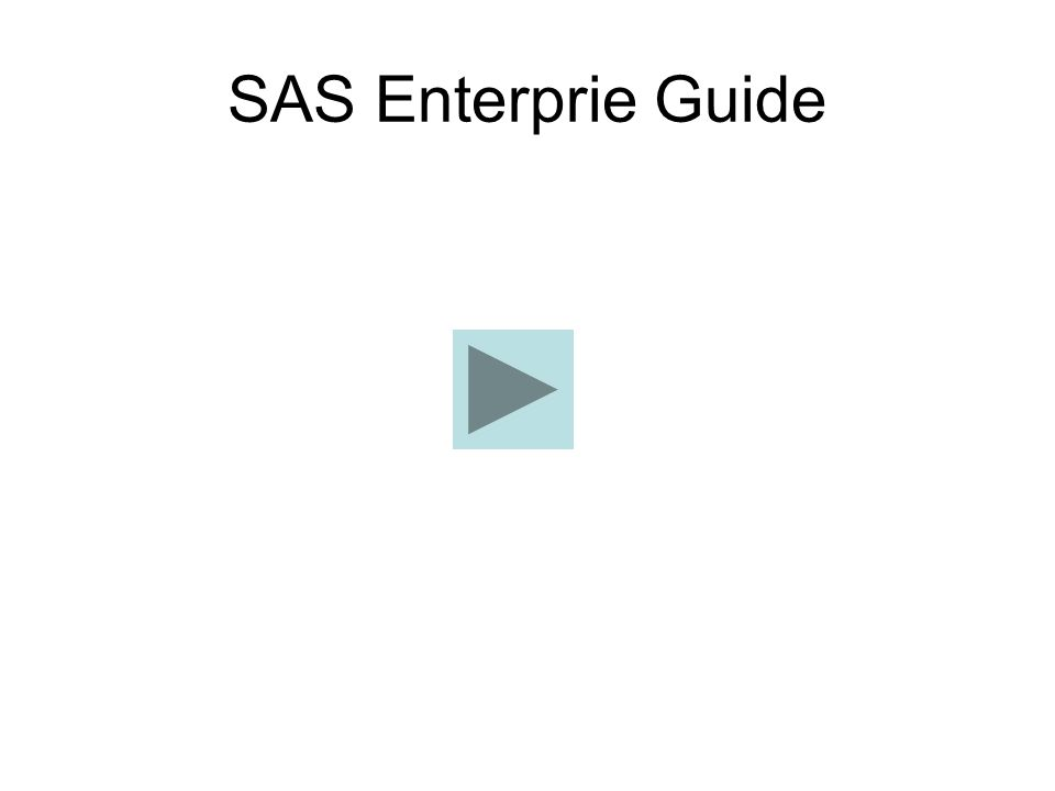 SAS Enterprie Guide