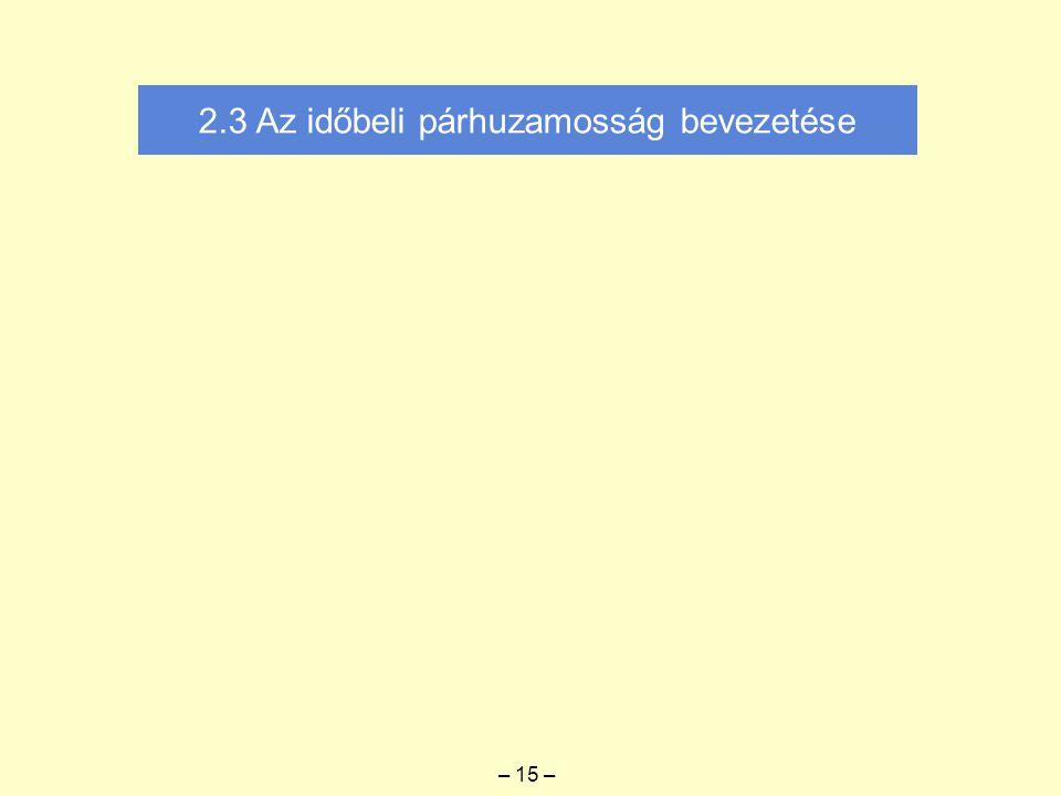 2.3 Az időbeli párhuzamosság bevezetése – 15 –