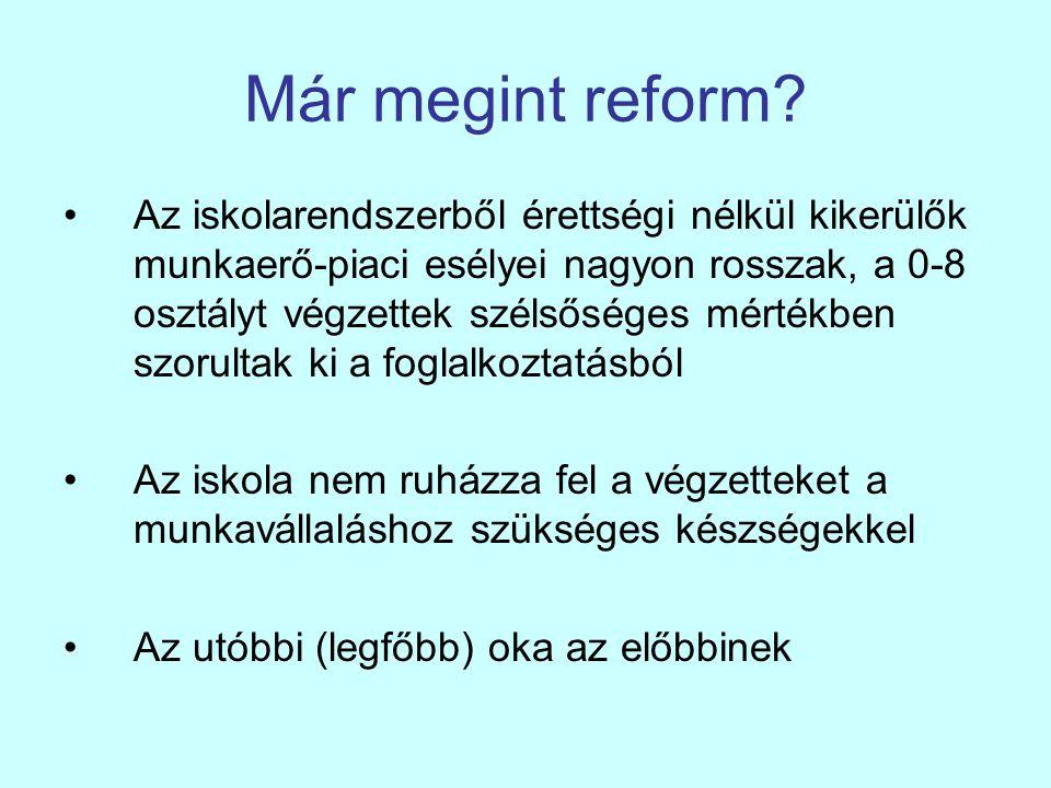 Már megint reform.