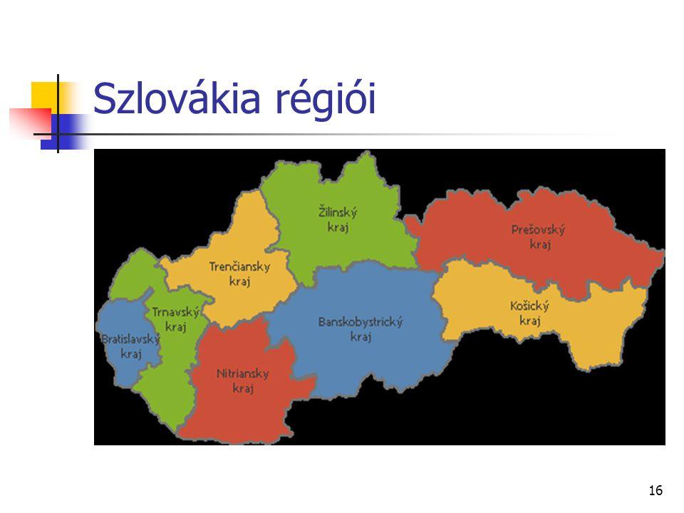 Szlovákia régiói 16