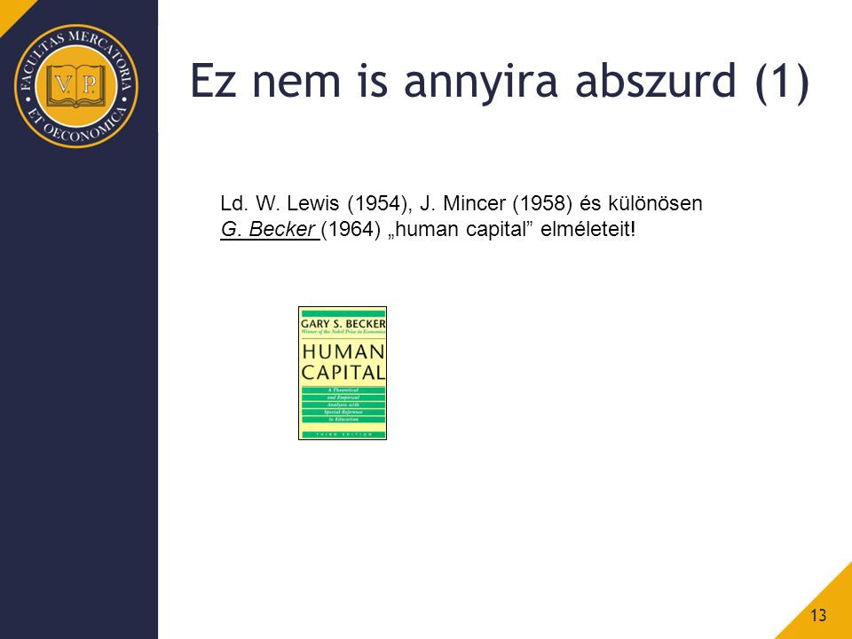Ez nem is annyira abszurd (1) 13 Ld. W. Lewis (1954), J.