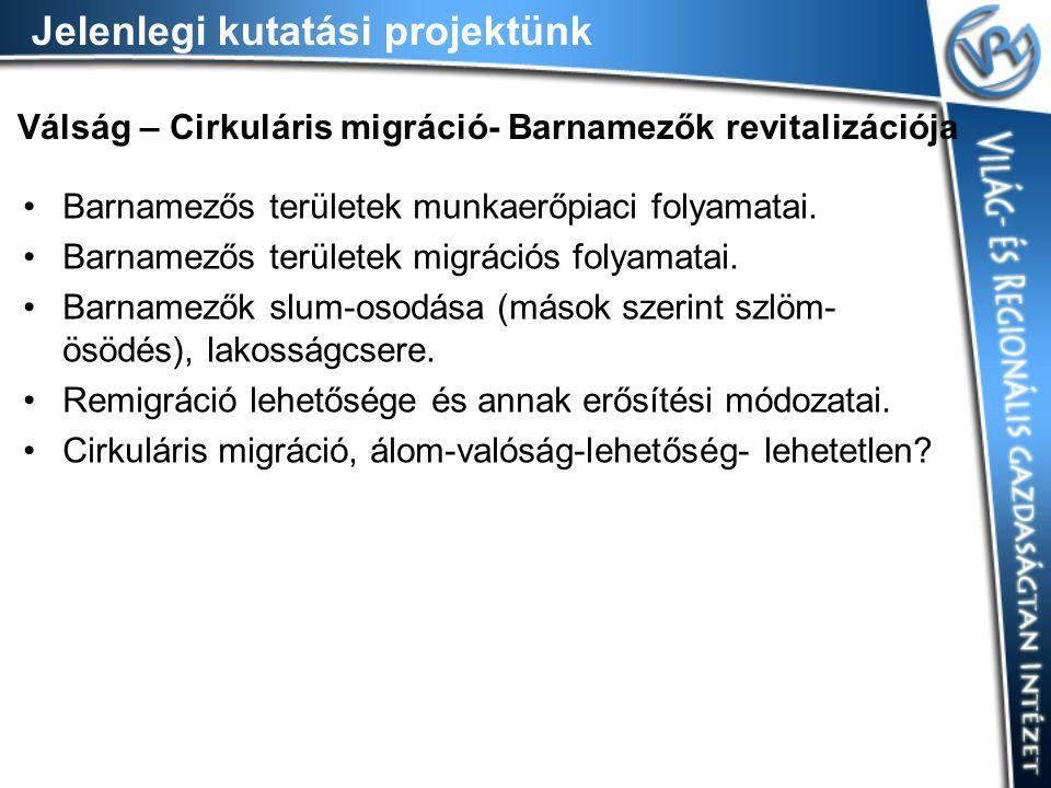 Válság – Cirkuláris migráció- Barnamezők revitalizációja Barnamezős területek munkaerőpiaci folyamatai.