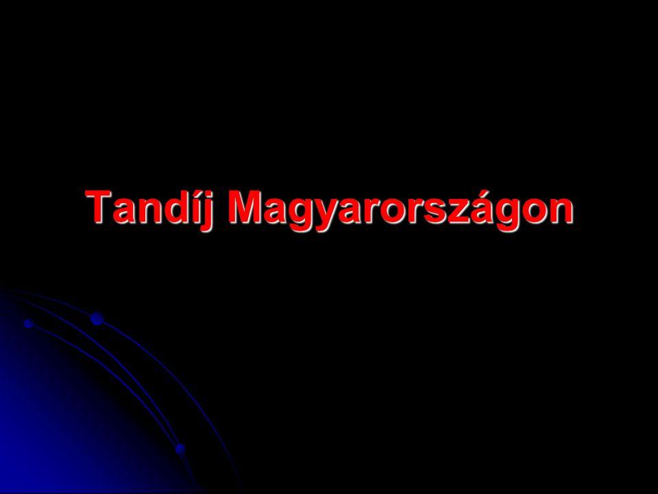 Tandíj Magyarországon