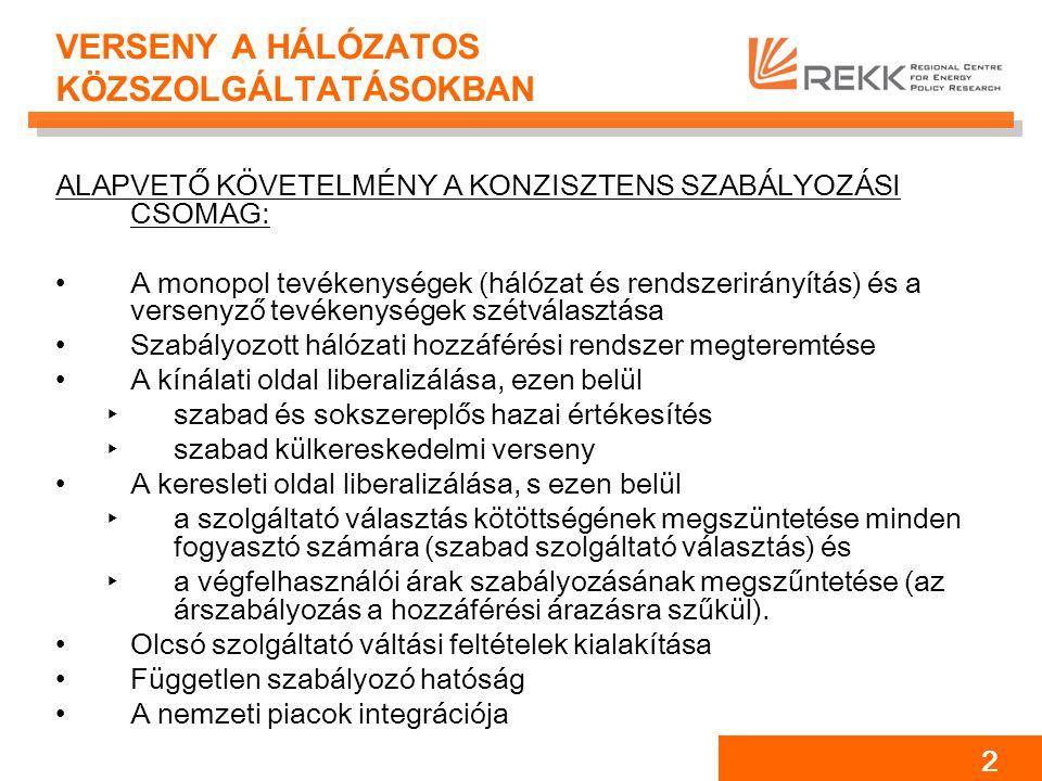 13 ÁREMELKEDÉST MAGYARÁZÓ OKOK Nagykereskedelmi ár: ‣Kínálat: tüzelőanyag áremelkedés ‣Kereslet: 'balkáni' magas árak 'kiszívják' az áramot a hazai piacról ‣Túlzottan koncentrált piaci szerkezet, monopol árazás Kiskereskedelmi ár: ‣Keresztfinanszírozás ‣Kötelező átvétel növekedése