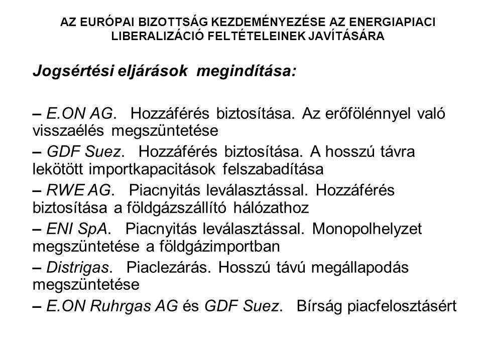 A HARMADIK ENERGIACSOMAG AZ EURÓPAI PARLAMENT ÉS A TANÁCS 2009/73/EK IRÁNYELVE (2009.