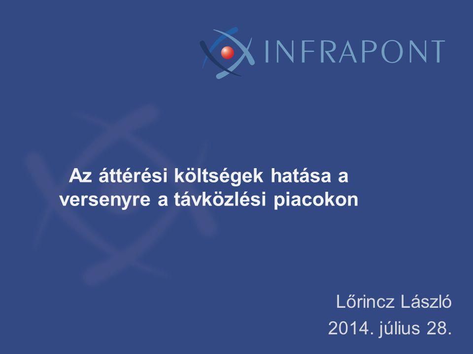 Az áttérési költségek hatása a versenyre a távközlési piacokon Lőrincz László 2014. július 28.