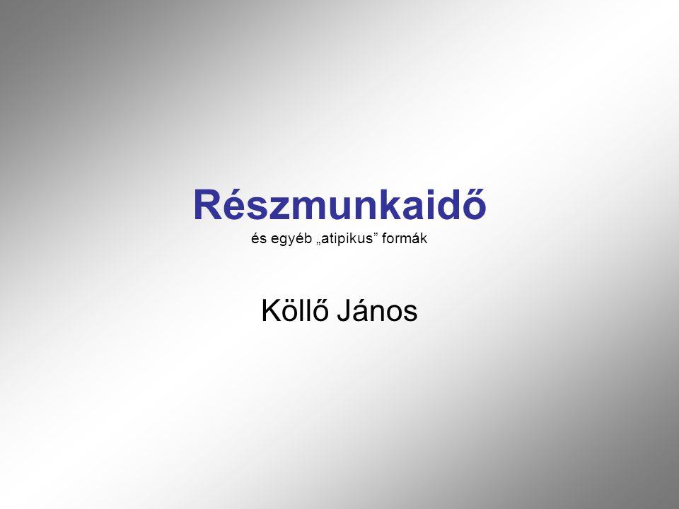 """Részmunkaidő és egyéb """"atipikus formák Köllő János"""