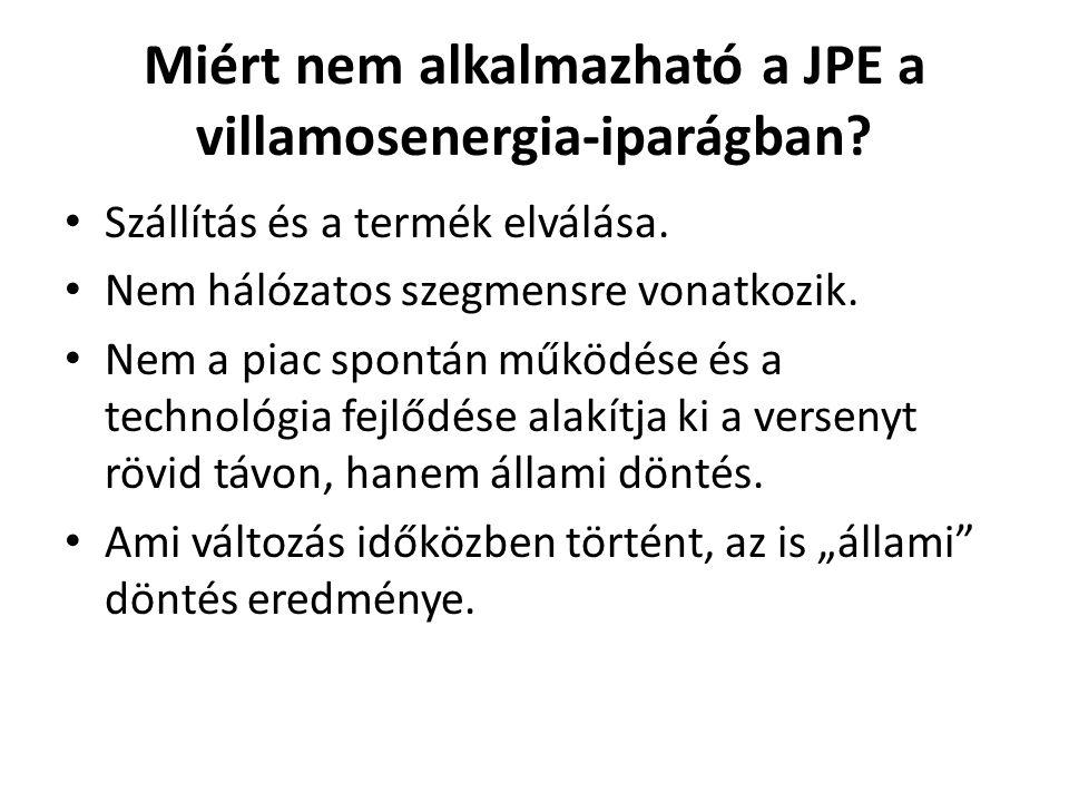 Miért nem alkalmazható a JPE a villamosenergia-iparágban.