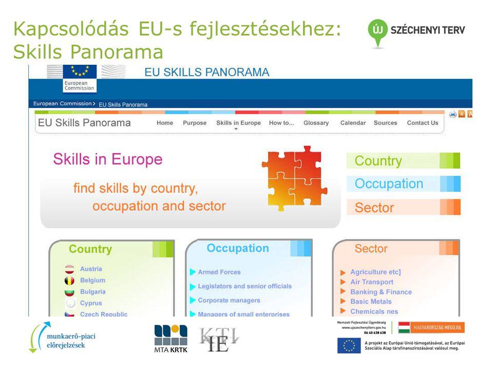 Kapcsolódás EU-s fejlesztésekhez: Skills Panorama