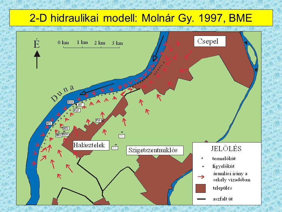 Csapadékvíz, talajvíz Közvetlenül a Csepel-szigetre hullott és beszivárgott csapadékvíz A szigettől keletre eső részre hullott és beszivárgott csapadékvíz, ami a Ráckevei- Duna-ág alatt áramlik a fő Duna-ág felé
