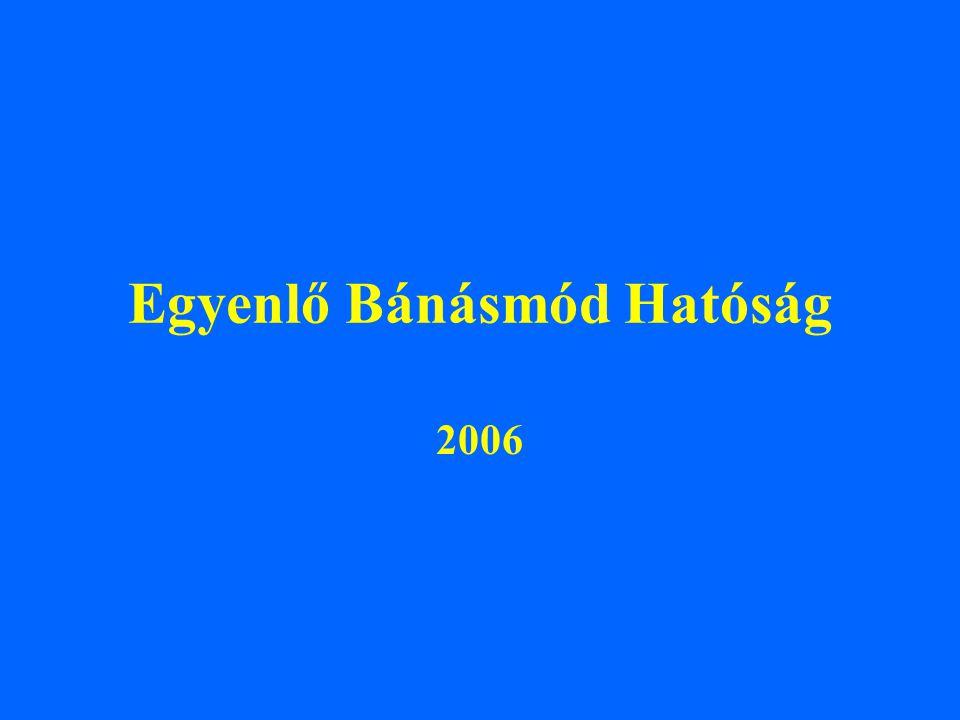 Egyenlő Bánásmód Hatóság 2006