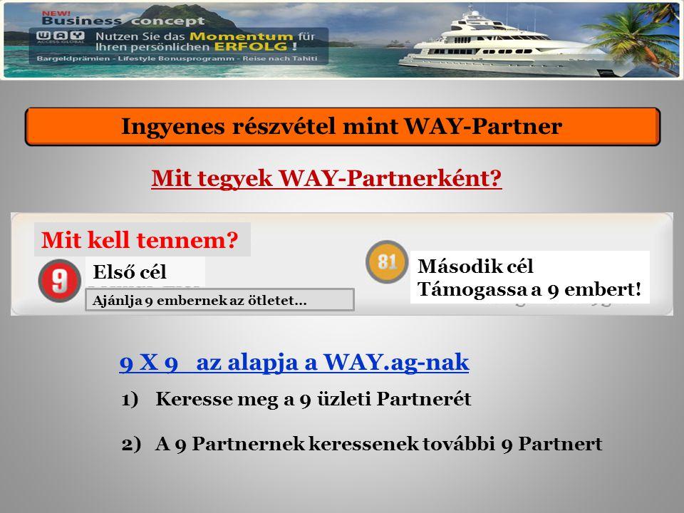 Kostenlose Teilnahme als WAY-Partner Mit tegyek WAY-Partnerként.