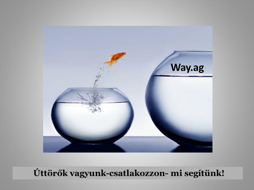 Way.ag Úttörők vagyunk-csatlakozzon- mi segítünk!