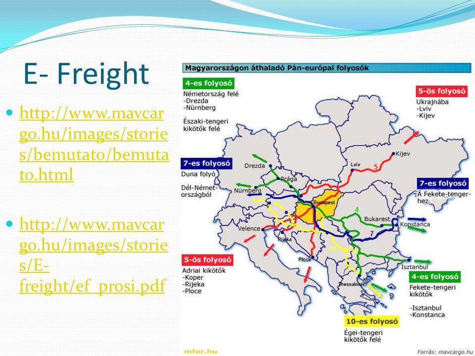 E- Freight http://www.mavcar go.hu/images/storie s/bemutato/bemuta to.html http://www.mavcar go.hu/images/storie s/bemutato/bemuta to.html http://www.mavcar go.hu/images/storie s/E- freight/ef_prosi.pdf http://www.mavcar go.hu/images/storie s/E- freight/ef_prosi.pdf