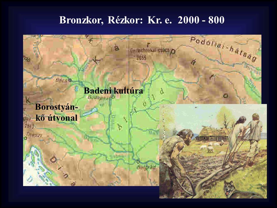 Bronzkor, Rézkor: Kr. e. 2000 - 800 Borostyán- kő útvonal Badeni kultúra