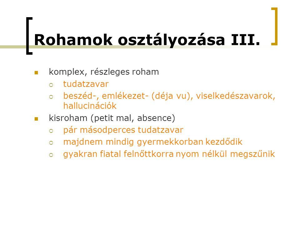 Rohamok osztályozása III.