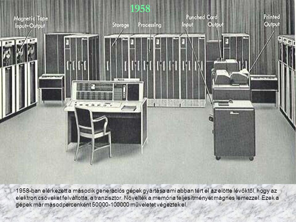 A harmadi generáció 1965-ben jelent meg.