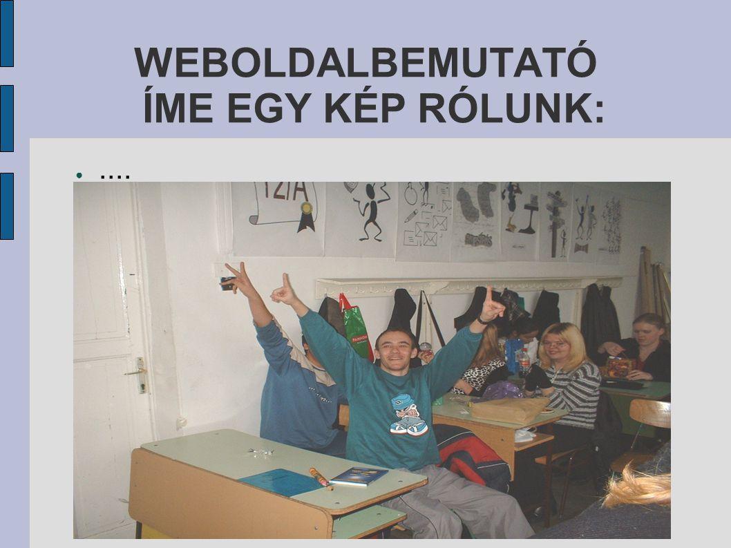 WEBOLDALBEMUTATÓ ● ÖCSI: Ő az oldal webmestere. Ő akart egy szórakoztato oldalt létrehozni.