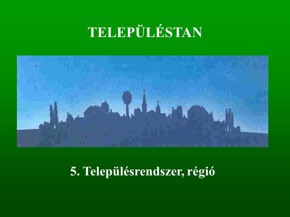 TELEPÜLÉSTAN 5. Településrendszer, régió