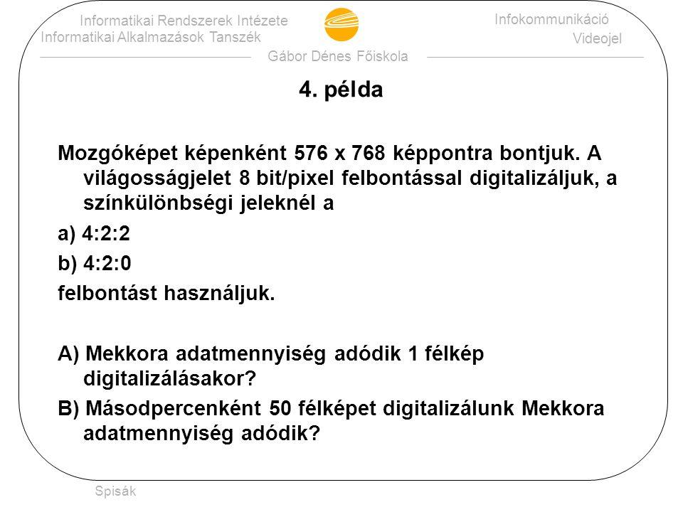 Gábor Dénes Főiskola Informatikai Rendszerek Intézete Informatikai Alkalmazások Tanszék Infokommunikáció Beszédjelek Spisák 3.
