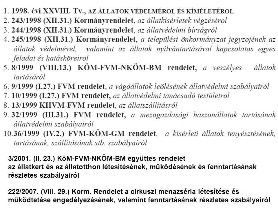 222/2007.(VIII. 29.) Korm.