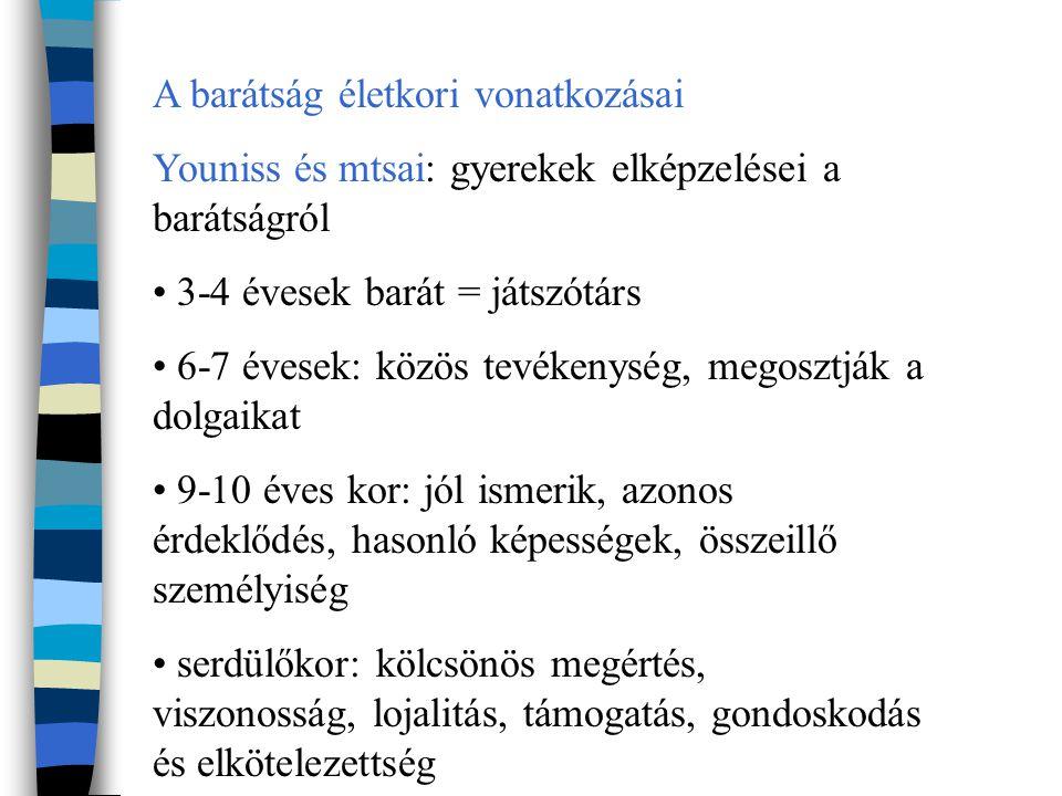 Kortárskapcsolatok és társas rangsor szociometria, szociogram 1.