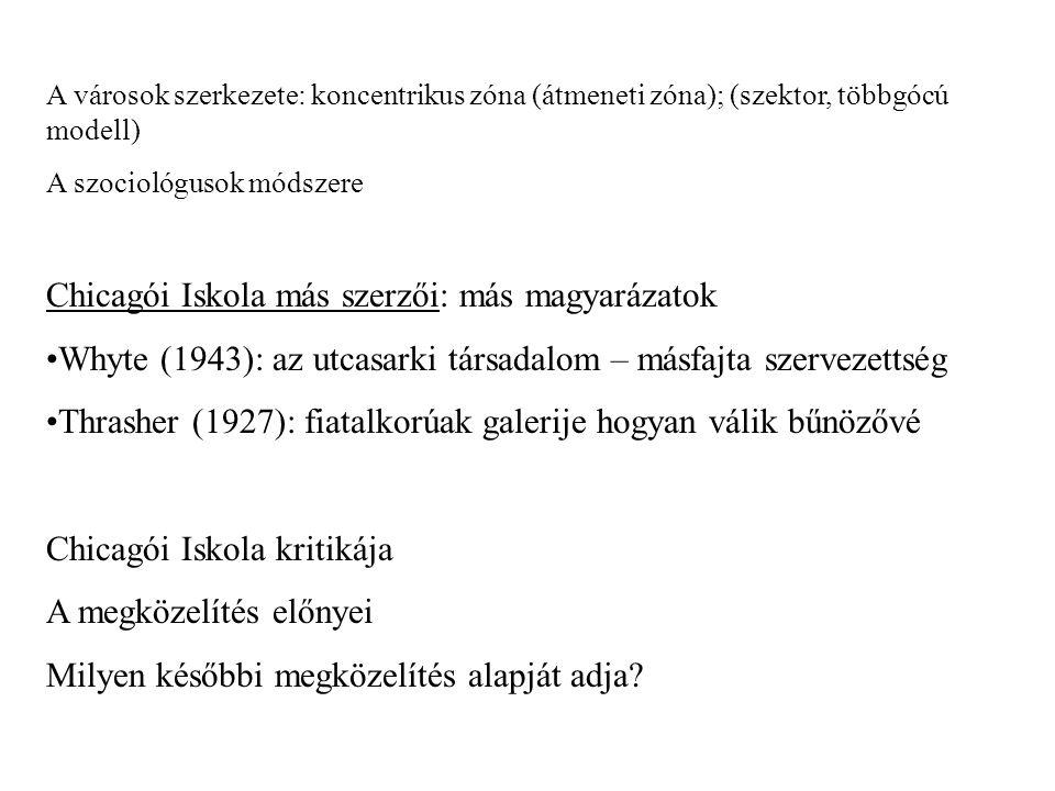 Funkcionalizmus (1930- 1950 között) A társadalom mint rendszer, amelyben a deviancia a stabilitás fontos eszköze E.
