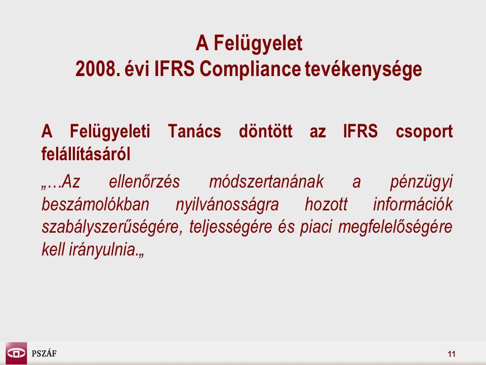 11 A Felügyelet 2008.