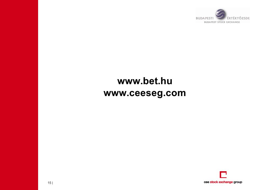 www.bet.hu www.ceeseg.com 15 |