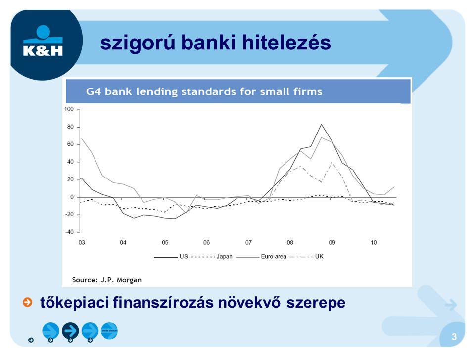 tőkepiaci finanszírozás növekvő szerepe szigorú banki hitelezés 3
