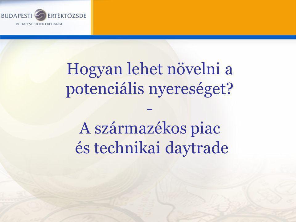 Hogyan lehet növelni a potenciális nyereséget? - A származékos piac és technikai daytrade
