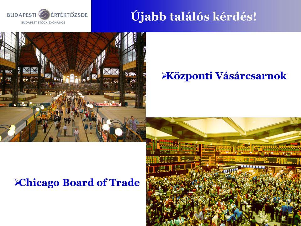 Újabb találós kérdés!  Központi Vásárcsarnok  Chicago Board of Trade