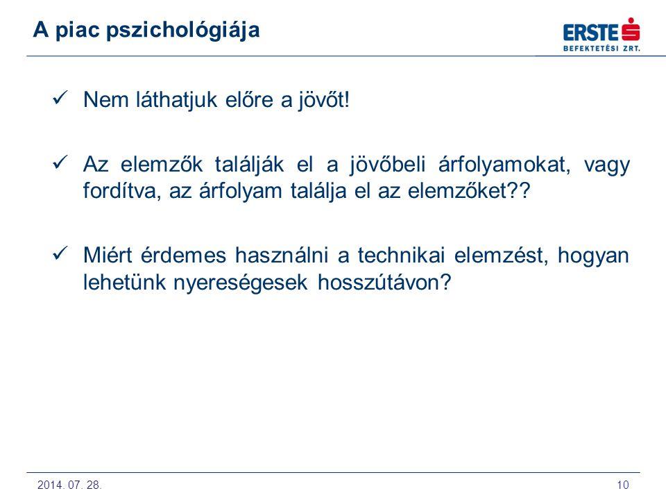 2014. 07. 28. 11 A piac pszichológiája