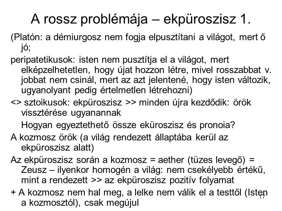 17 A rossz problémája – ekpüroszisz 1.