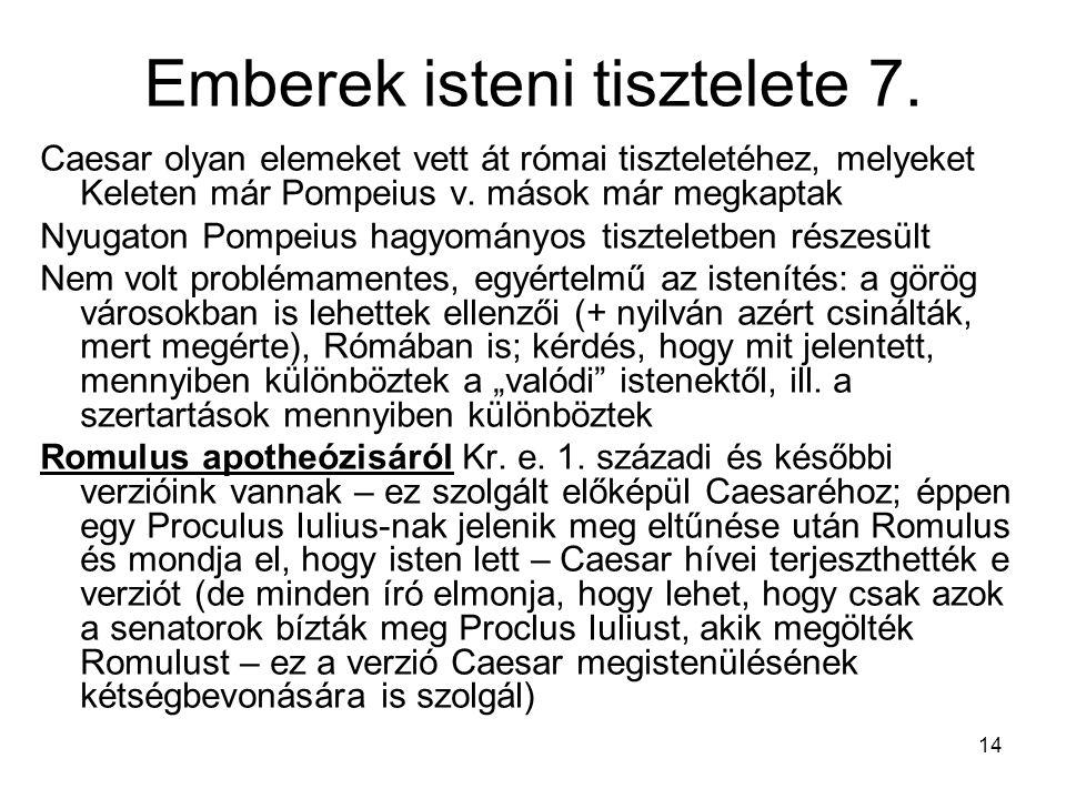 14 Emberek isteni tisztelete 7.