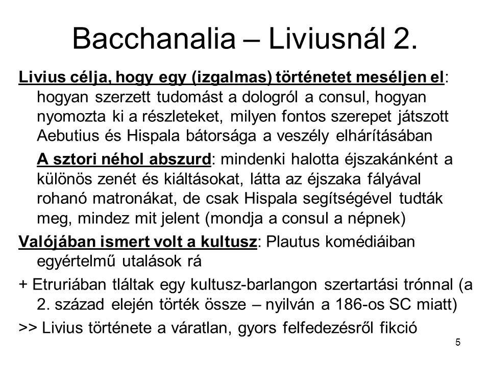 Bacchanalia – Liviusnál 2.