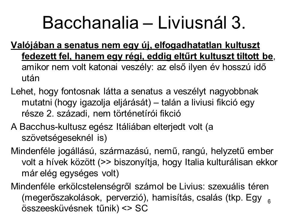 Bacchanalia – Liviusnál 3.