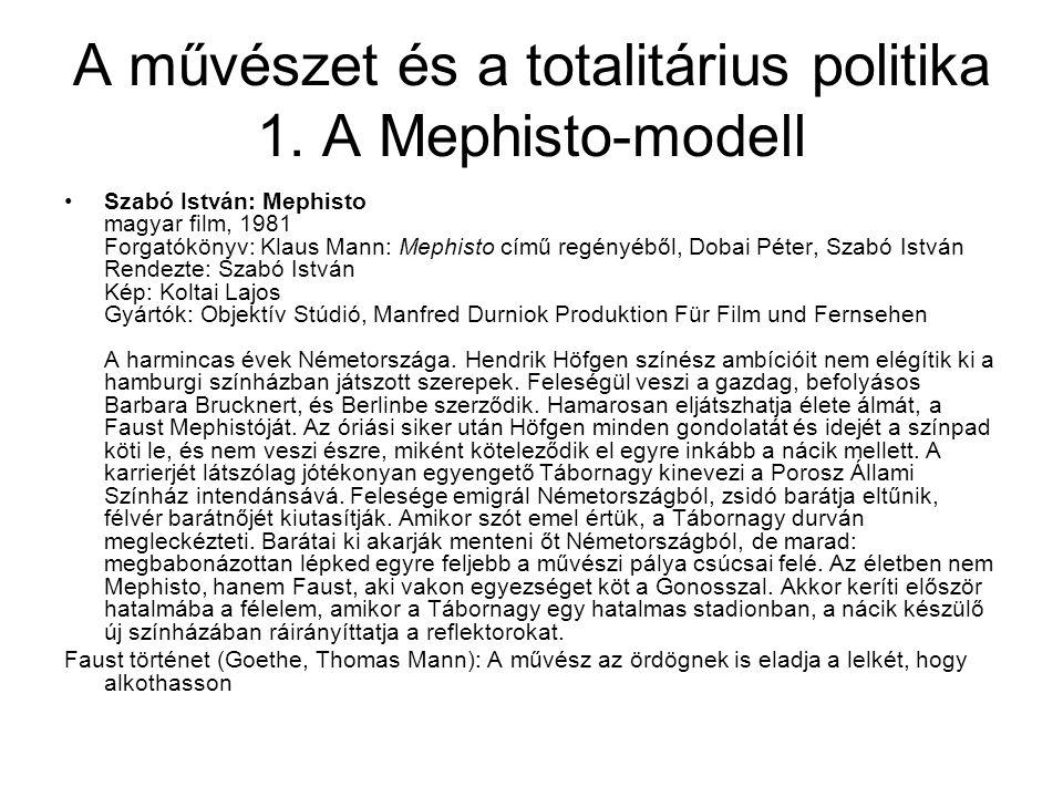 A művészet és a totalitárius politika 1.