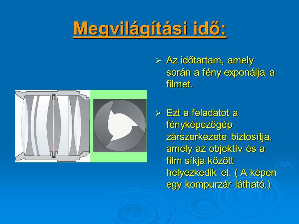 PI: az f / 11kétszer annyi fényt enged át a rekeszen, mint az f / 16 Ily módon a fényerő jelentősen csökkenthető, vagy növelhető. Ha figyelmesen megvi