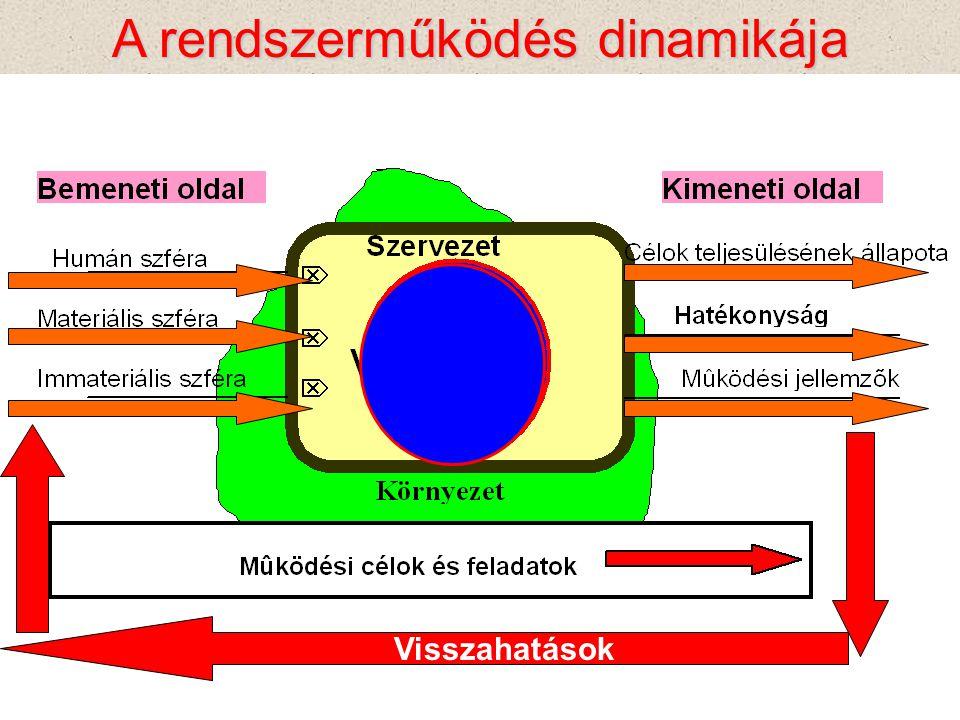 A rendszerműködés dinamikája Visszahatások