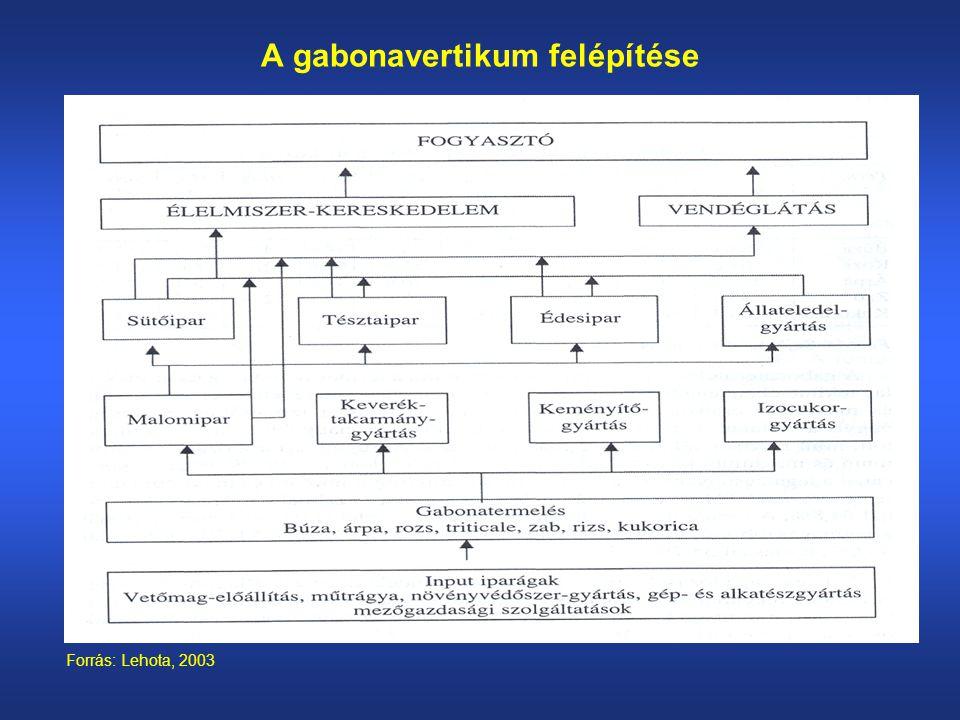 A gabonavertikum felépítése Forrás: Lehota, 2003