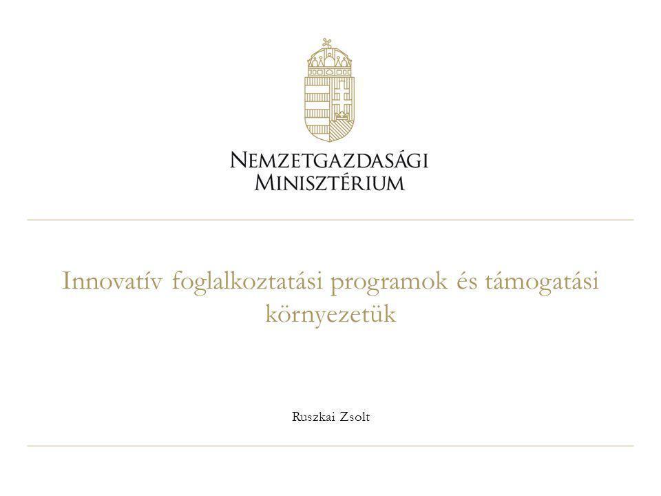 Innovatív foglalkoztatási programok és támogatási környezetük Ruszkai Zsolt