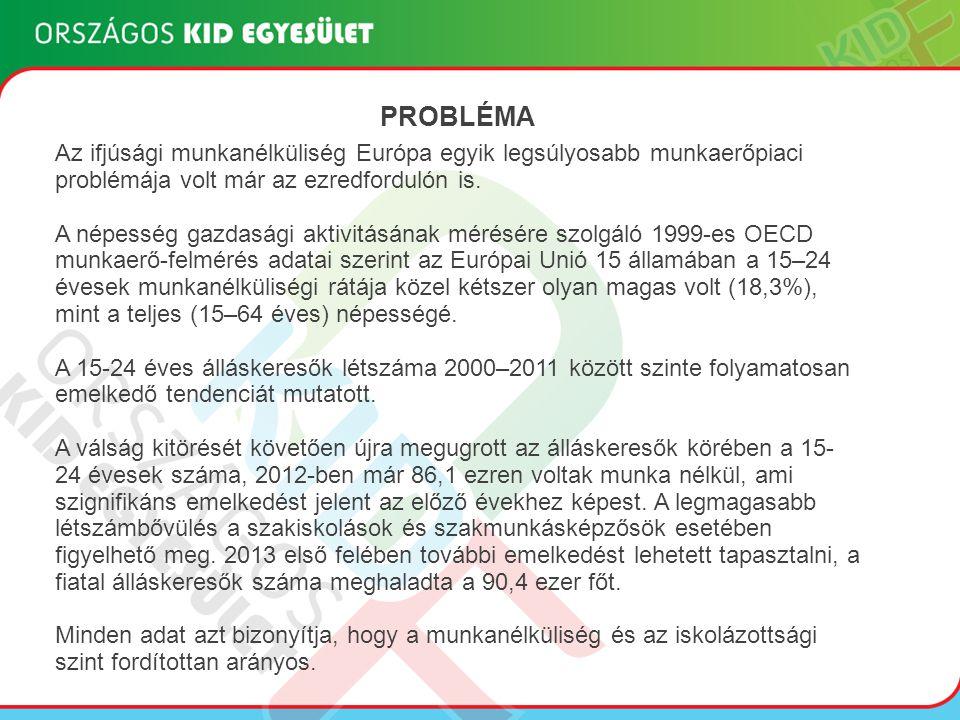 """Fiatal álláskeresők számára elérhető foglalkoztatáspolitikai eszközök Munkaerő-piaci képzés Bér- és járulék jellegű támogatások ( """"első munkahely garancia , munkahelyvédelmi akcióterv) Vállalkozóvá válás támogatása Közfoglalkoztatás Egyéb Pályázati konstrukciók (TÁMOP 1.4.1, TÁMOP 1.4.3, stb.)"""