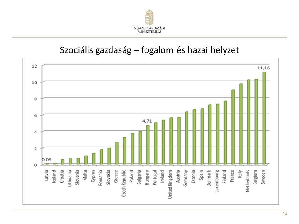 24 Szociális gazdaság – fogalom és hazai helyzet