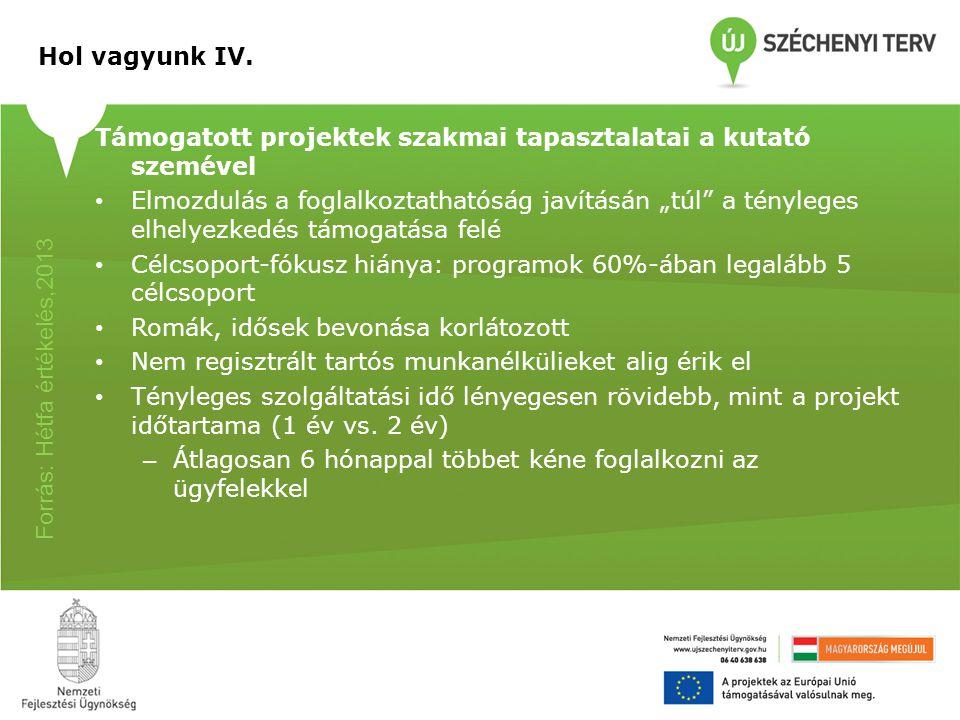 Az EQUAL és a HEFOP egyes intézkedéseinek értékelésének főbb megállapításai A munkaerő-piaci szolgáltatások és a szolgáltató szervezetek komoly fejlődésen mentek keresztül Egyes programok (pl.