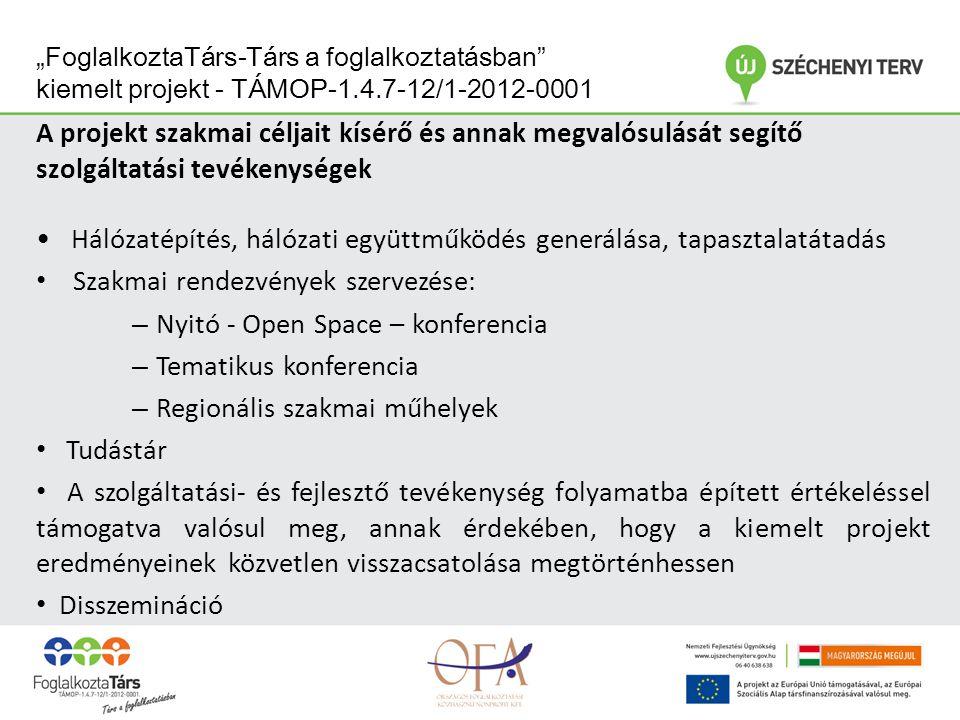 """""""FoglalkoztaTárs-Társ a foglalkoztatásban kiemelt projekt - TÁMOP-1.4.7-12/1-2012-0001 Módszertani fejlesztés - Módszertani fejlesztés szakaszai: Helyzetfeltáró szakasz – helyzetfeltáró kutatás mindhárom területen Fejlesztési szakasz -Innovatív: innováció tartalmi elemeinek, funkciójának, módszereinek és a rendszerszintű bevezetés lehetőségeinek vizsgálata - Tranzitfoglalkoztatás: tranzitfoglalkoztatási modell fejlesztése -Foglalkoztatási megállapodások: foglalkoztatási megállapodások szakmai sztenderdjeinek kidolgozása Adaptálási és elterjesztési szakasz: – Értékelő kutatás – Módszertani kiadvány – Szakpolitikai javaslatok"""